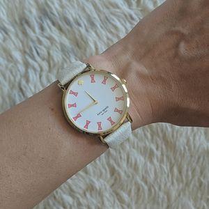 Kate Spade White Bows Women's Watch